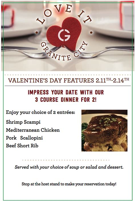 s day dinner for two granite city food brewery