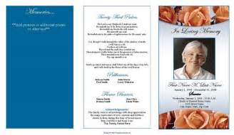 sle funeral program template place to find the best free funeral program templates to
