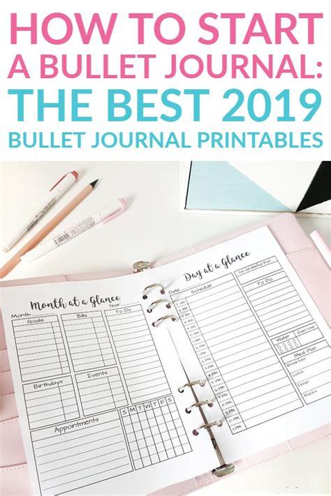 bullet journal printables  update bullet