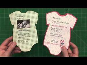 Announcement Card Template 5 Quot X 7 Quot Baby Onesie Invite Or Announcement Youtube
