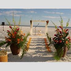 Siesta Key Wedding Beautiful Tropical Theme  Flowers By