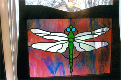 dragonfly stained glass l hand made dragonfly stained glass by phb stained glass