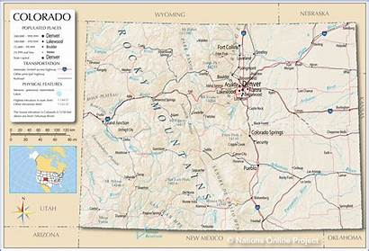 Colorado Map Maps Usa Reference State
