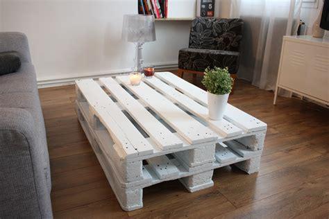 table basse palette comment fabriquer une table basse en palettes