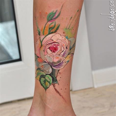 105 Sensational Watercolor Flower Tattoos - Page 9 of 11