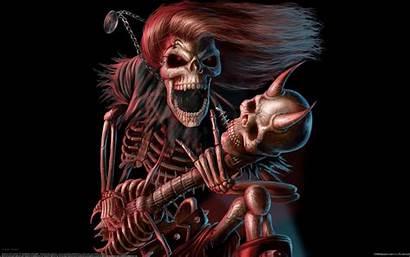 Rock Guitar Concer Skull Musician