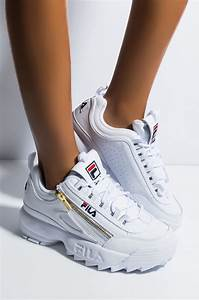 Adidas Womens Size Chart Fila Faux Leather Side Zipper Embroidered Logo Chunky Sole