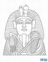 Coloring Pages Egypt King Tut Tutankhamun Egyptian Pharaoh Ancient Statue Hellokids Colouring Template Sheets Printable Drawing Linea Colorear Popular Coffin sketch template