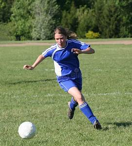 Teen Youth Soccer Player Chasing Ball Stock Photography ...