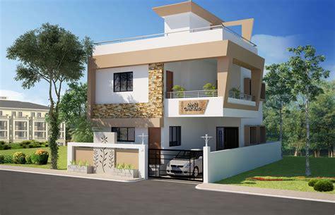 3 bedroom duplex floor 3d front elevation concepts home design
