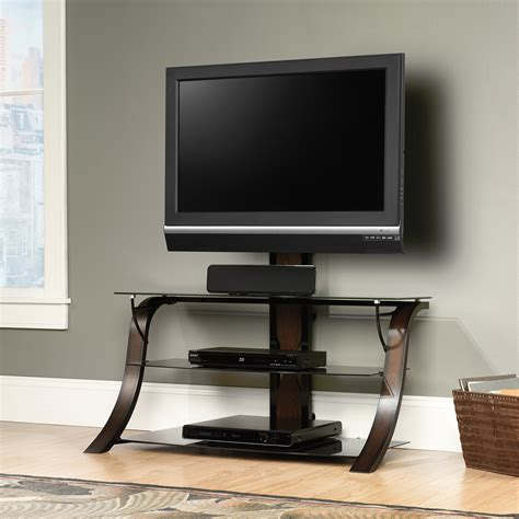 Sauder Select Veer Mounted Tv Stand Cherry Finish 413906