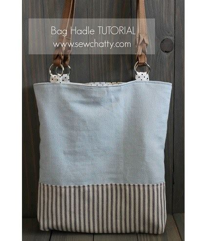 tutorial  fabric tabs  attach purse handles sewing