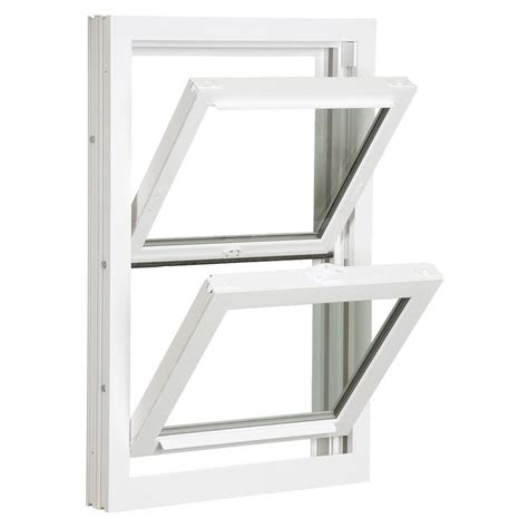 reliabilt  vinyl replacement white exterior double hung window rough opening