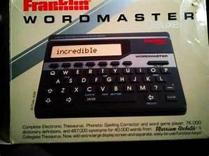 Franklin Wordmaster Deluxe Model Wm