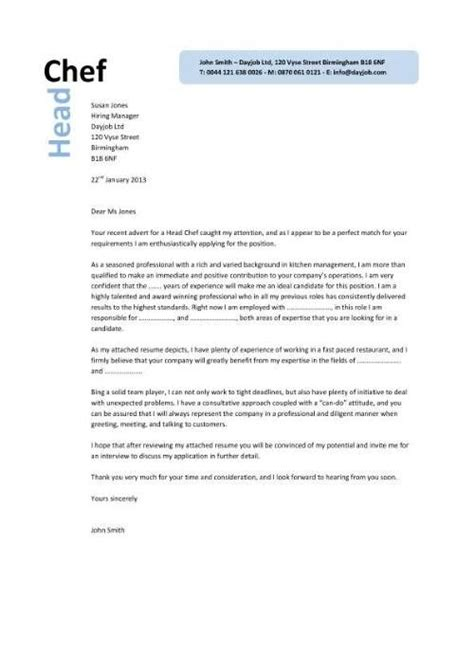 Cover Letter For Executive Chef by Sle Executive Chef Cover Letter Http Www