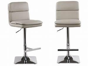 Tabouret De Bar Taupe : lot de 2 tabourets chaises de bar reglables houston similicuir taupe ~ Melissatoandfro.com Idées de Décoration
