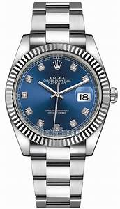 126334 Blue Diamond Oyster Rolex Datejust 41mm Stainless ...