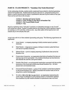Electricity  Class Project Outline - Worksheet