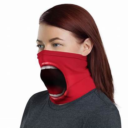 Mask Face Funny Mouth Screaming Scarf Fun