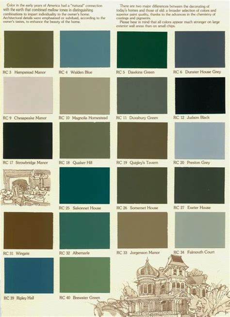 historic exterior house colors color concert color choices no color desired from this chart 5