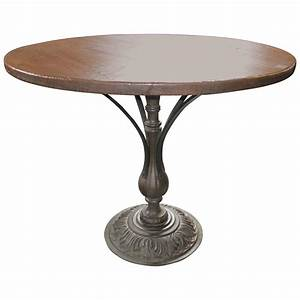 Metal Base Caf Table Bistro Table At 1stdibs