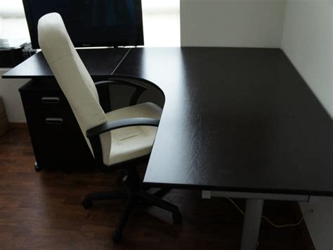 black l shaped desk black l shaped desk with hutch great leather midback