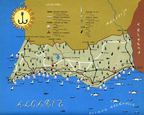 algarve map maps map poster algarve