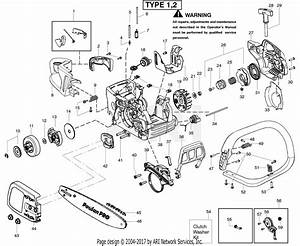 Poulan Sm4218av Poulan Pro Gas Saw Type 1 Parts Diagram For Starter Type 1