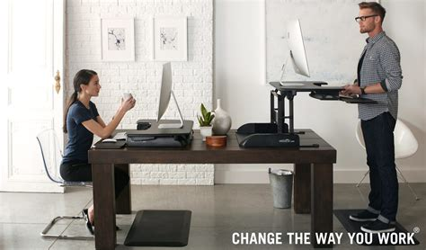 Standing Desk Using Bed Risers by We The Answer To A Healthier Office Lifestyle Try