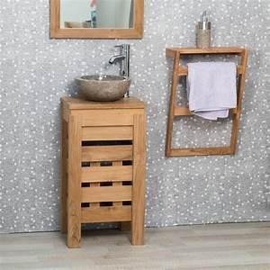 les 7 meilleures images du tableau collection zen sur With meuble lavabo bois massif 7 meuble sous vasque simple vasque en bois teck massif