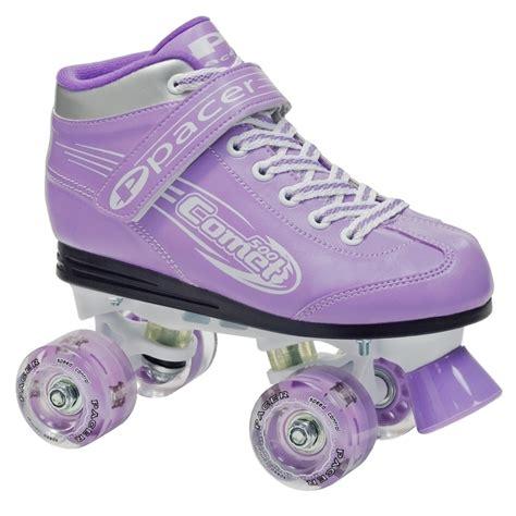 light up skates roller derby pacer comet light up purple roller
