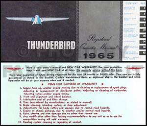1965 Ford Thunderbird Wiring Diagram Manual Reprint