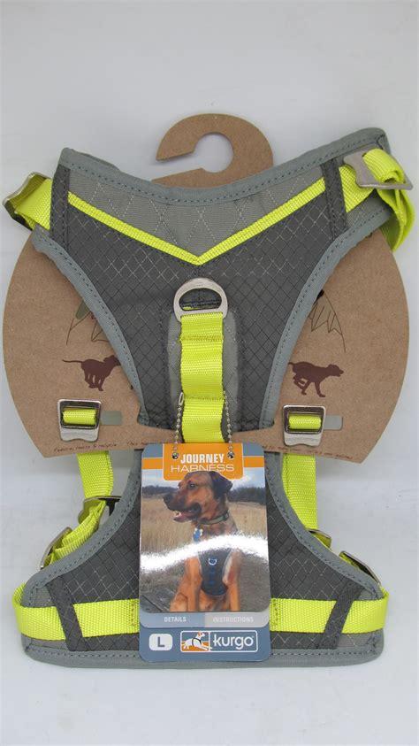 kurgo journey dog harness large size   lbs gray