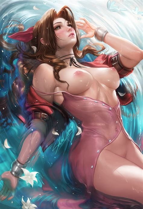 Rule Girls Aerith Gainsborough Breasts Brown Hair Female Female Only Final Fantasy Final