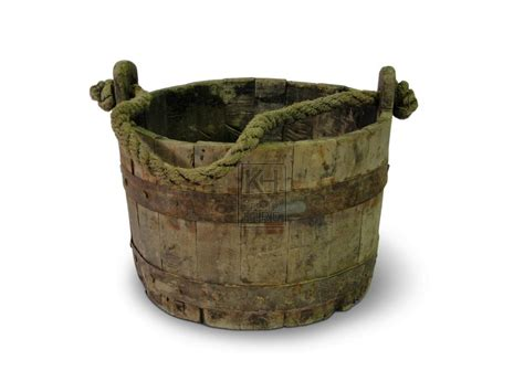 Buckets Prop Hire » Iron Bound Bucket With Rope Handle #2