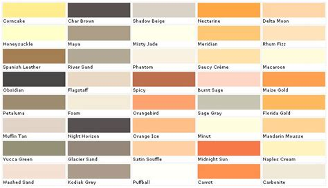 exterior paint color chart house paint color chart