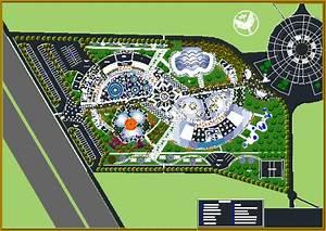 Recreational Water Park 2D DWG Design Plan for AutoCAD