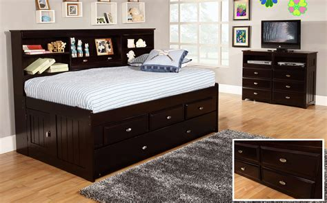Twin Bed With Side Headboard
