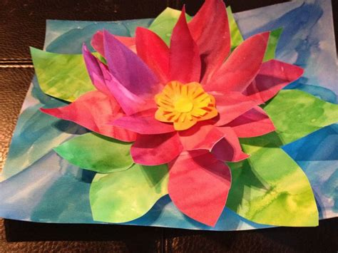 Water Lily Pop-up Painting- Good For Monet Spring Lesson