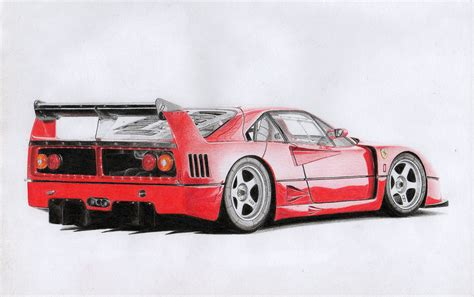 #FerrariFriday My first realistic drawing: F40 LM (I once ...