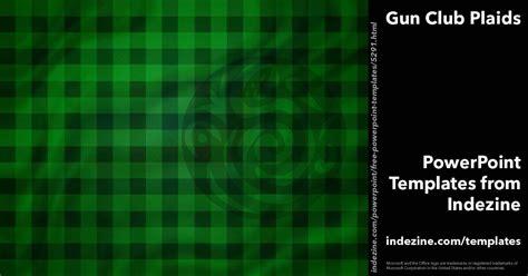 gun club plaids  powerpoint template