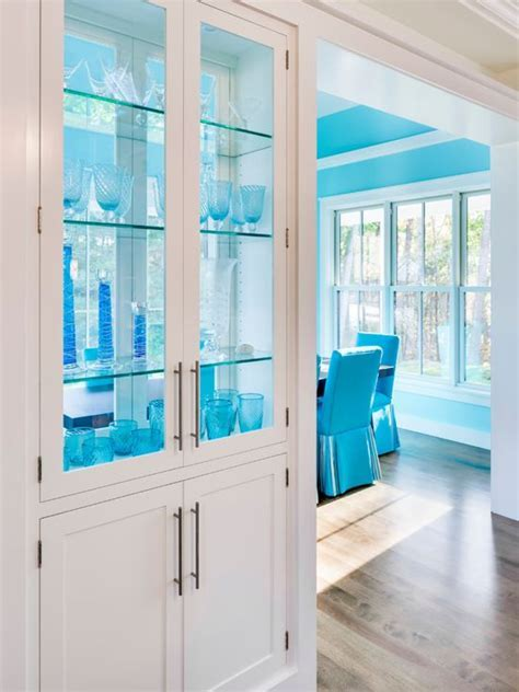 Benjamin Moore Spectra Blue Painted Kitchen Cabinets