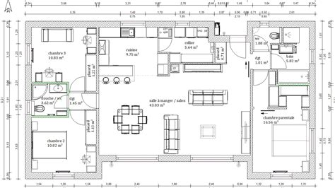 maison plain pied 3 chambres fabulous plan maison plein pied images about plan on