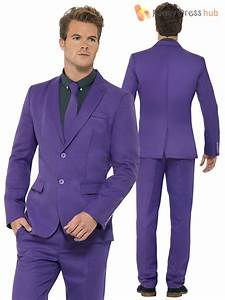 Mens Purple Stand out Suit Stag Party Festival Fancy Dress Costume Large 75980000lge | eBay