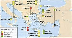 Epidauro: Mapas de la Grecia Antigua y de los principales espacios filosóficos