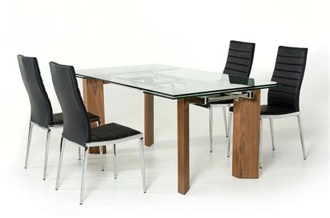 modern dining table legs modern glass top extendible dining table with wooden legs
