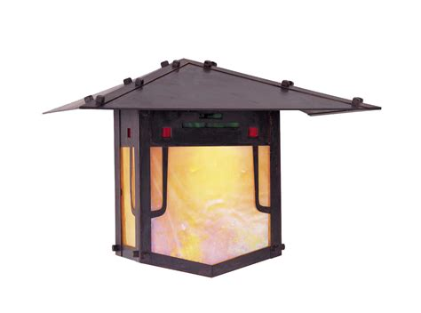 Arroyo Craftsman Pagoda Outdoor Wall Sconce
