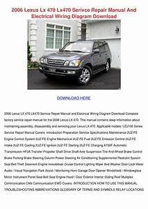 2006 Lexus Lx 470 Lx470 Serivce Repair Manual By Cassondra