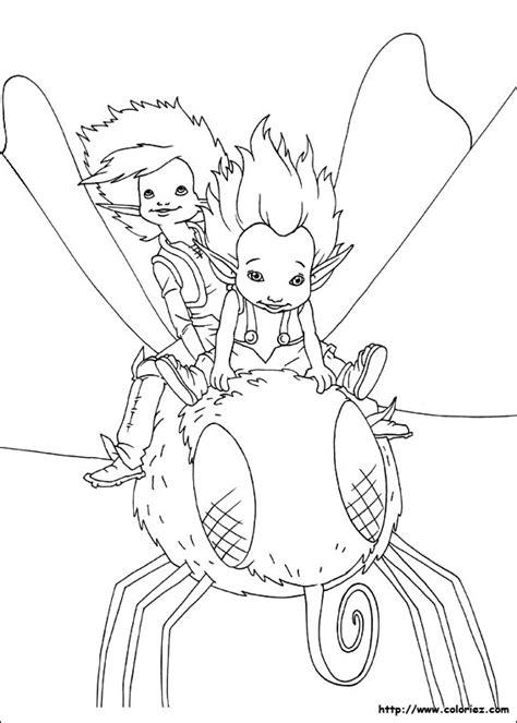 coloriage arthur  betameche sur une mouche