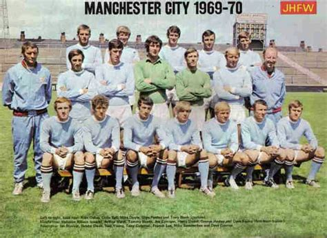 Man City team group 1969-70. | Manchester city football ...